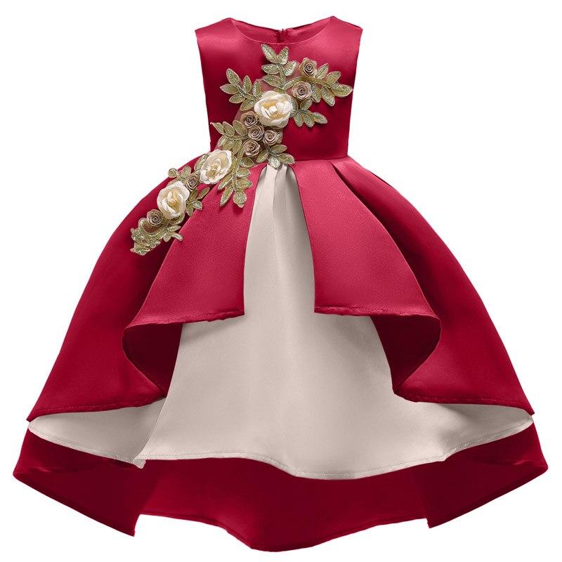 e63f55bc4 Vestido de novia de flores para niñas disfraz de Carnaval de Pascua para  niños vestidos de fiesta vestido de princesa de niños 3 4 5 6 7 8 9 10 años