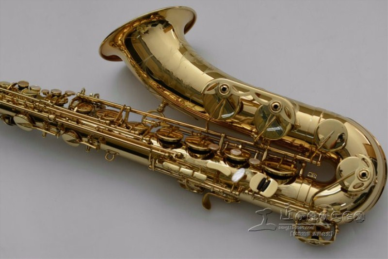 High Quality 54R Gold Lacquer Saxophone Tenor Saxophone Curved Professional Bb Sax with Case accessories Tenor Saxophone Free tenor saxophone 2018 hot selling high grade sts r54 bb tenor sax black saxophone golden perfect quality free shipping