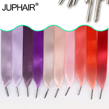 3 Pairs High-grade Metal Head Warhead Laces Satin Ribbon Multicolor Lace Smooth Bud Silk Wide Flat Shoelaces Shoes Casual