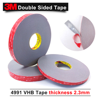 3M tape/VHB 4991 acrylic adhesive double sided tape/Outstanding durability performance/1*18yd*5rolls/we can offer other size
