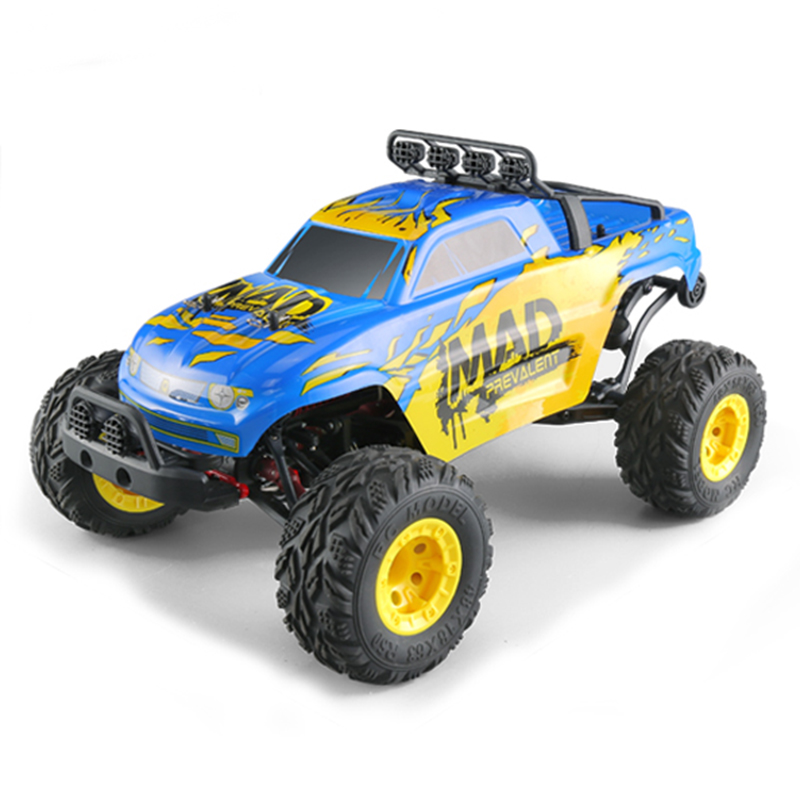 JJRC Q40 1: 12 2.4G 4WD Short-course Truck Rock Crawler Off Road RC Car Mad Man Remote Control Car US Plug Blue