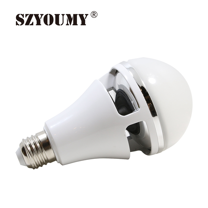 SZYOUMY 10Pcs RGBW Colorful Music LED Light Bulb Wireless Bluetooth 4.0 Speaker Portable Smart Bubble Lamp Controlled By Phone szyoumy e27 rgbw led light bulb bluetooth speaker 4 0 smart lighting lamp for home decoration lampada led music playing