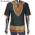 Новый Дизайн Dashiki Футболку Моды Африканской Печати 100% Хлопок Dashiki Для Мужчин