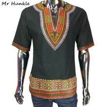 Mr Hunkle New Design Dashiki T-shirt Fashion African Print 100% Cotton Dashiki For Men