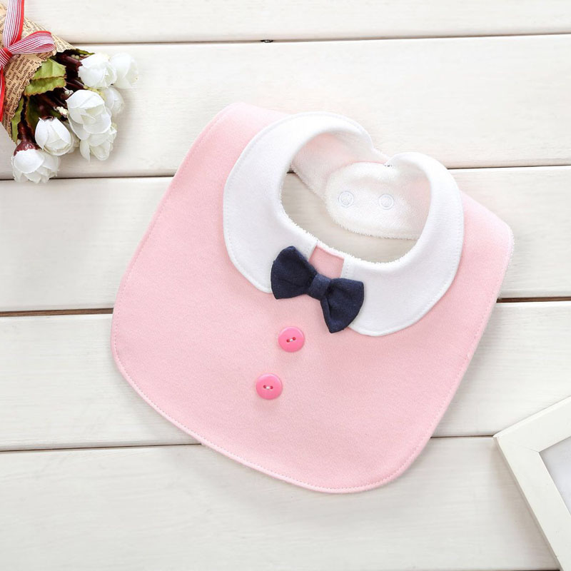 Newborn New Cotton Cartoon Baby Bibs Waterproof Gentleman Bow Tie Baby Scarf Adjustable Kids Bandana Infant Accessories bibs