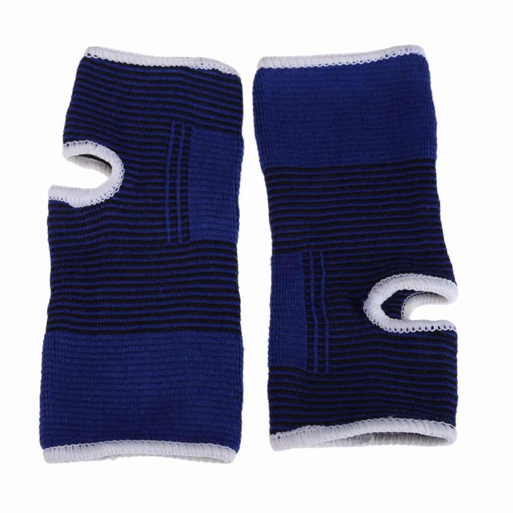 1 par de rodilleras azules elásticas, rodillera para lesiones de artritis de pierna, rodillera elástica, soporte para el tobillo
