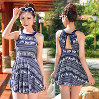 XL 5XL 2015 Top Quality Sexy Hot Spring Swimwear Floral Print For Women Slim Swimdress Plus