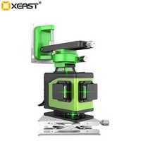 Professionnel 2019 nouveau XEAST vert lumière 16 ligne apposition 4D niveau haute précision éblouissement carrelage balayage instrument mur mètre