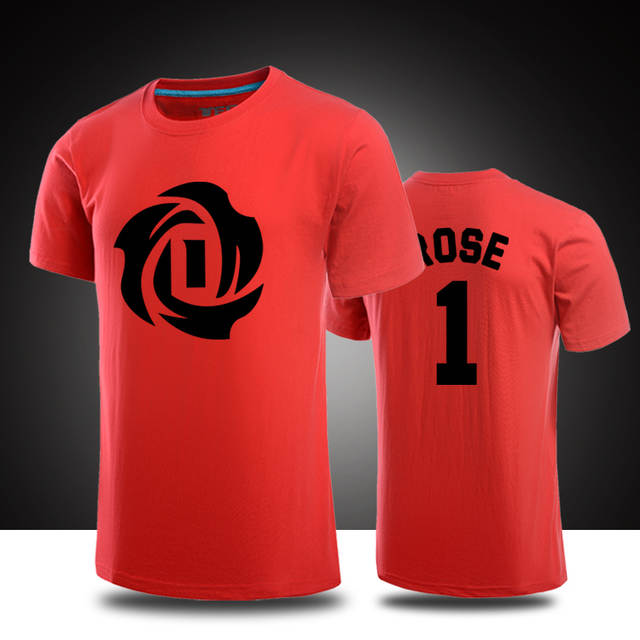 timeless design cf2b4 a5c4e Derrick Rose T shirts casual Jersey men short sleeve t shirt ...