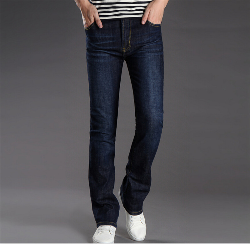 ФОТО Mens flared jeans pants 2015 Korean new arrival blue bell bottom Plus Size male bell bottom jean men 28 29 30 31 32 33 34 36