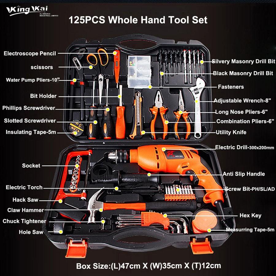 125PCS Whole Hand Hardware Tool Set-03-900