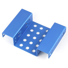 """5.25"""" to 2.5"""" SSD HDD Rack Aluminum 2-Bay Mount Hard Disk Drive Bracket for destop computer Free Shipping"""