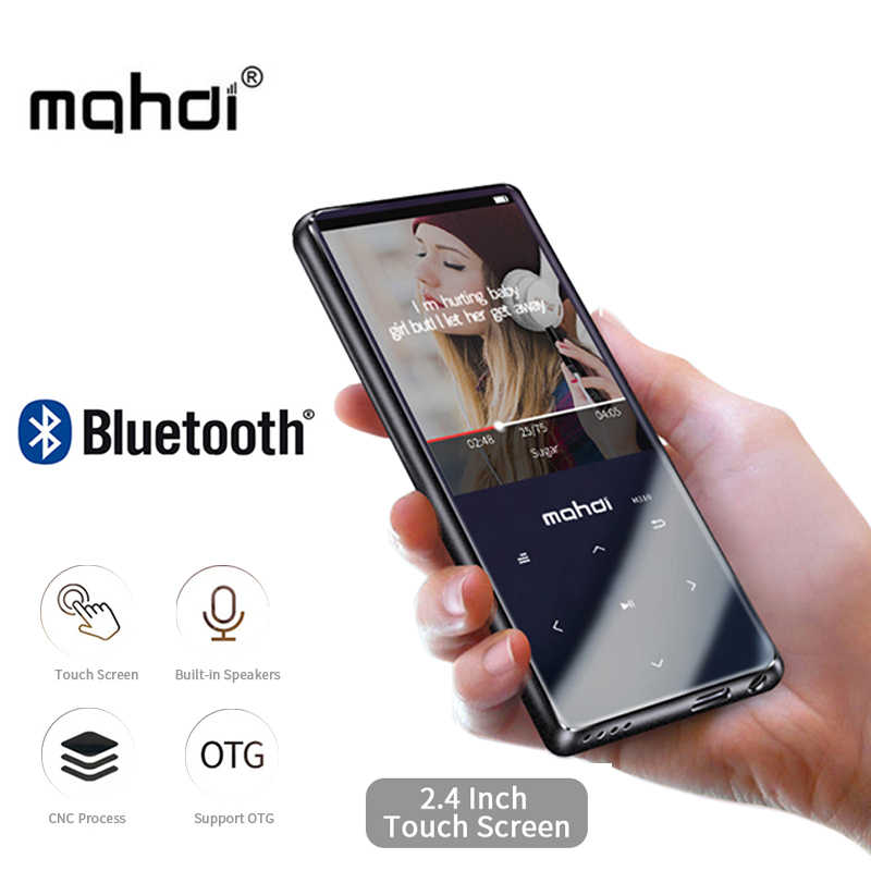 Reproductor MP3 Mahdi M310 con Bluetooth, pantalla táctil, Mini reproductor de música portátil de 2,4 pulgadas, 8 GB, reproductor MP3 Ultra delgado, Radio FM con E-book
