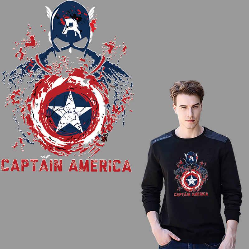 حار 25 سنتيمتر حجم الكرتون الكابتن الأمريكية شارة الحديد على بقع للملابس ملصقات transfert thermocollants تي شيرت parches روبا