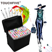 168 Colors TouchFIVE Painting Art Markers Pen Brush Set Dual Headed Oily Alcohol Manga Animation Drawing Sketching Supplies