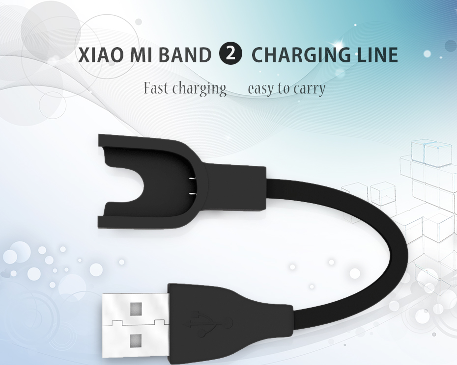 For Xiaomi Band Charge 2 USB Charger For Xiaomi Mi Band 2 Cable Replacement Cord  For Xiaomi Miband 2 Smart Bracelet Accessories 005407_01