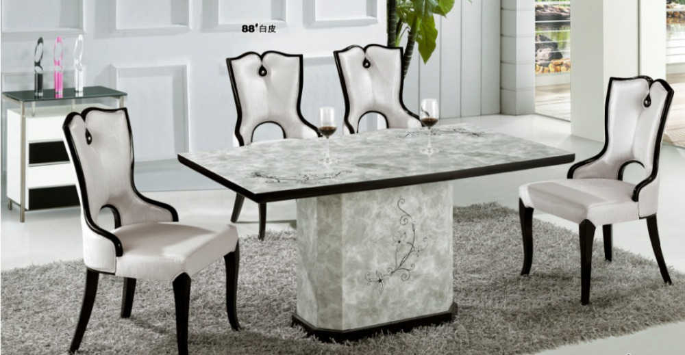 Extra Long 8 Seats Marble Dining Table In Dining Tables