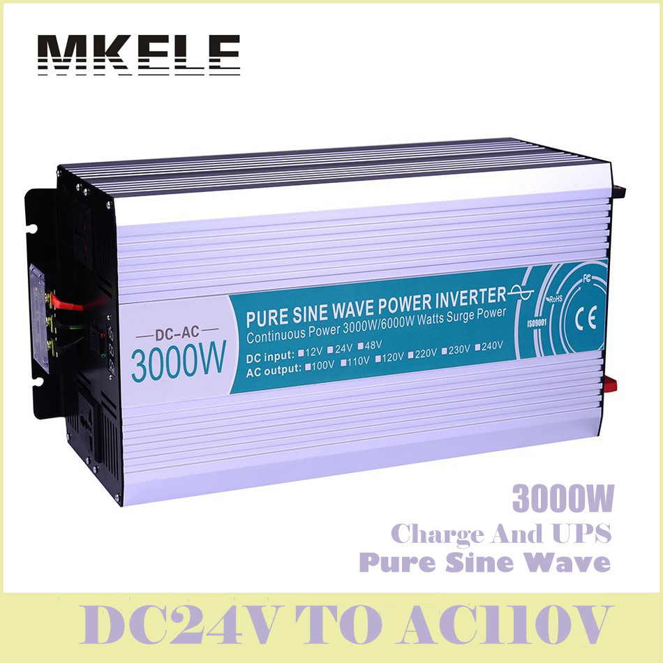Inverter MKP3000-241-C Pure Sine Wave Solar  3000w 24v Dc 110vac Voltage Converter With Charger And UPS Digital Display China mkp4000 241 c 24v to 110vac 4000w inverter pure sine wave off grid solar voltage converter with charger and ups regulators china