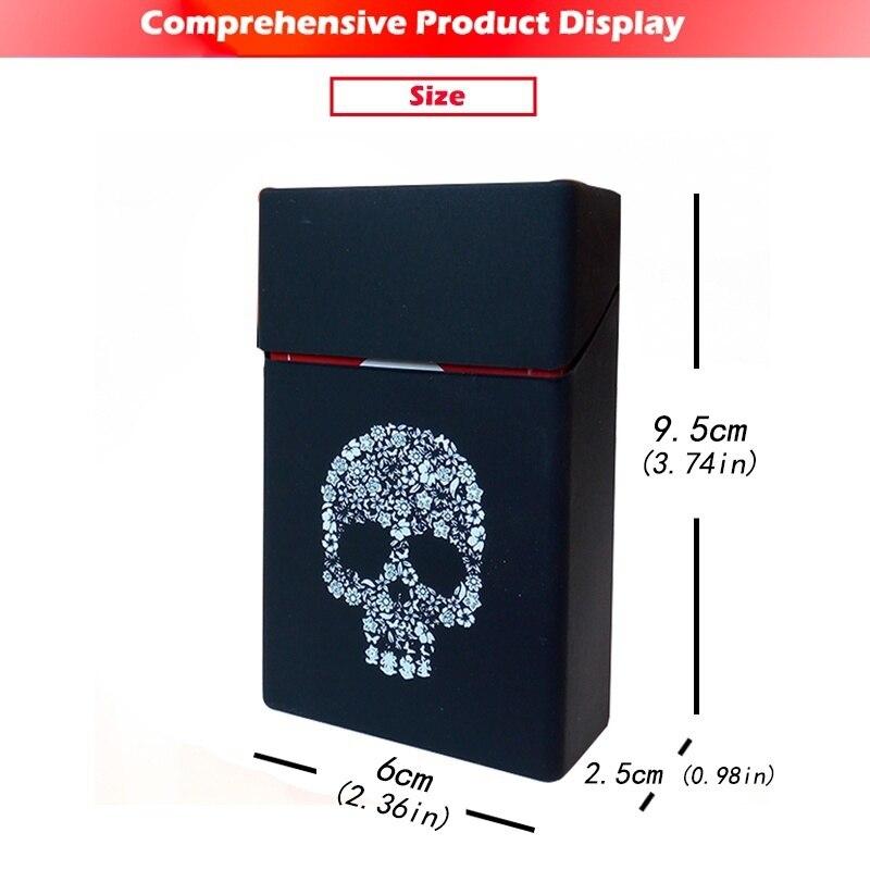 Holds 20 Cigarettes,Personality Silicone Cigarette Case Fashion Cover Elastic Rubber Portable Man/Women Cigarette Box Sleeve 1