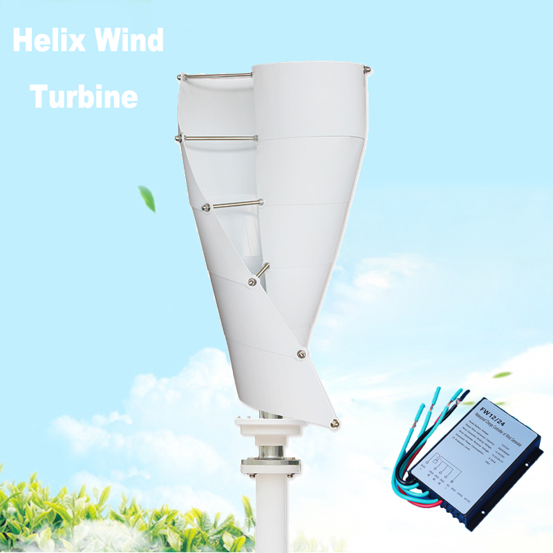 Max 150W DC 12/24V Helix Magnetic Levitation Axis Vertical Wind T urbine Generator with Controller