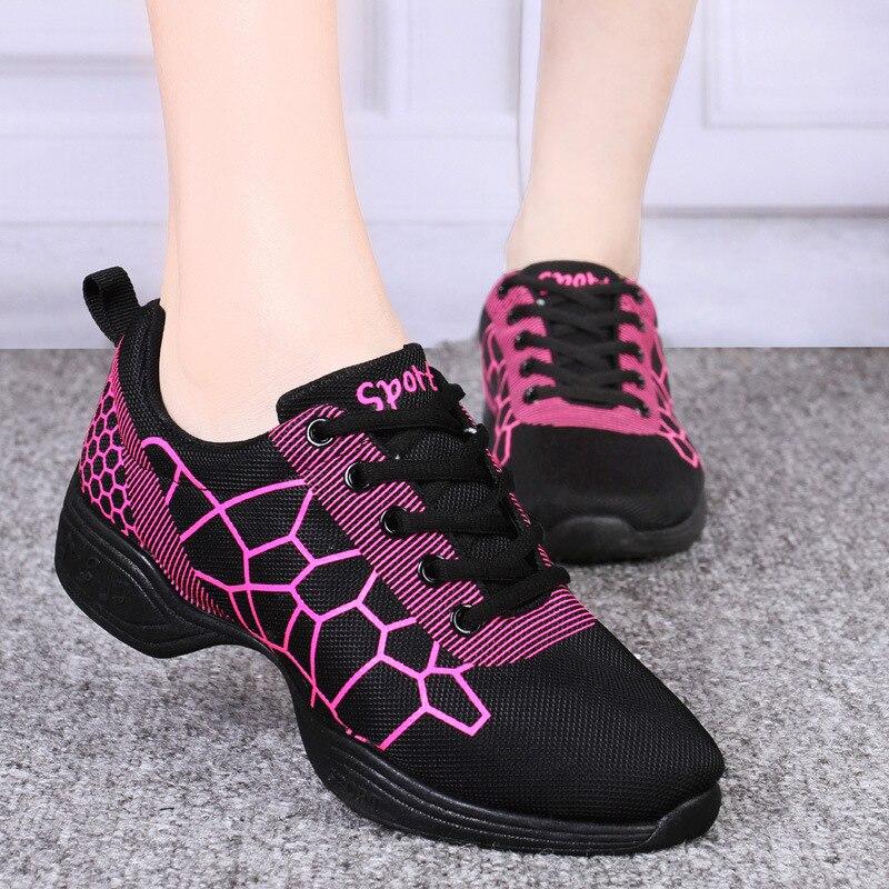Women Breath Fitness Dance Shoes Burst Lines Men Dance Sneakers Jazz Dancing Practice Shoes Children Boys Girls