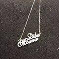 Твердого Серебра Двойное Название Кулон Индивидуальные Имя Ожерелье Сердца 925 Серебряных Пара Табличка Ювелирные Изделия Рождественский Подарок