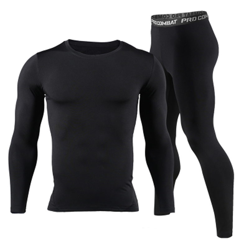 Long Johns Winter Thermal Underwear Sets Men Brand Quick Dry Anti-microbial Stretch 2017 Men's Thermo Underwear Male Spring Warm(China)