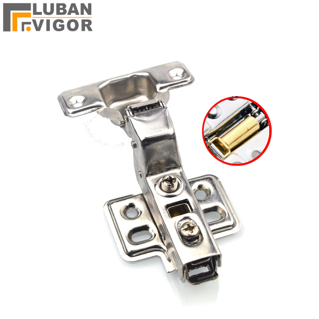 Aliexpress Com Buy 304 Stainless Steel Damping Removable Mute Cabinet Door Hinge Buffer Hydraulic Hinge Half Cover Furniture Hardware From Reliable