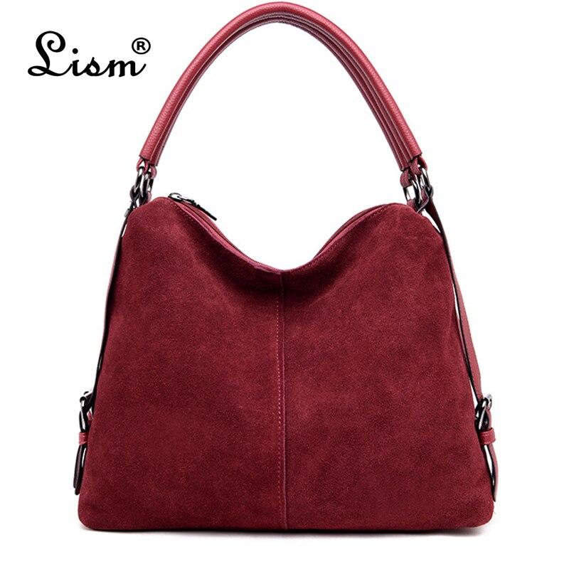 bccd79faecf2 Нубук замши сумка женская Повседневное разделение кожа для женщин сумки  Простые сумки через плечо для дизайнер курьерские Сумки Sac