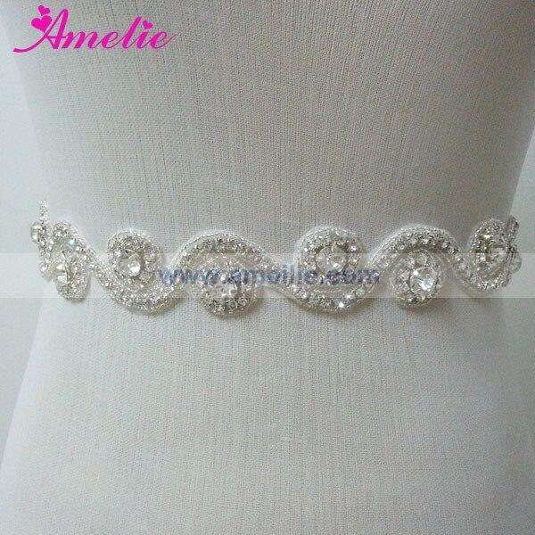 Из дешевых кристаллов свадебный пояс со стразами для свадебного платья