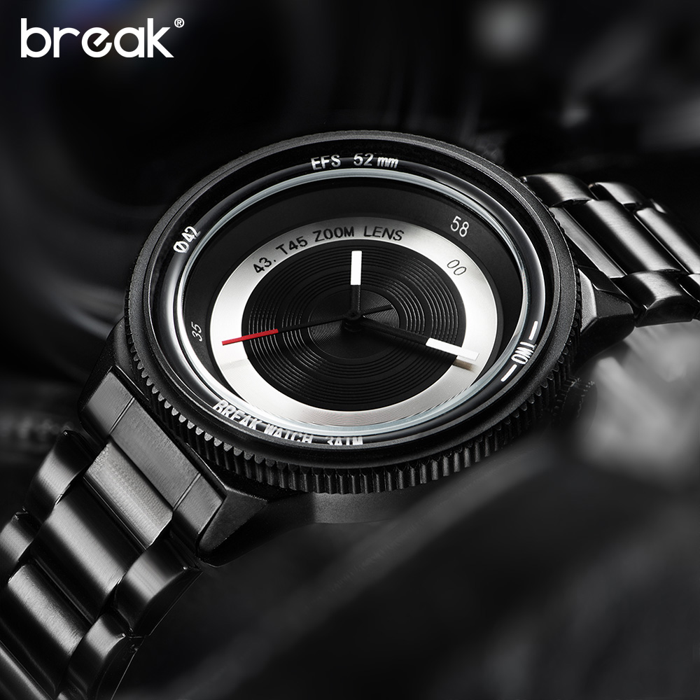 Break Original New Unique Luxury Men Unisex Fashion Casual Sports Cool Quartz Camera Photographer T45 Creative Watches for women break photographer series unique camera style stainless strap men women casual fashion sport quartz modern gift wrist watches