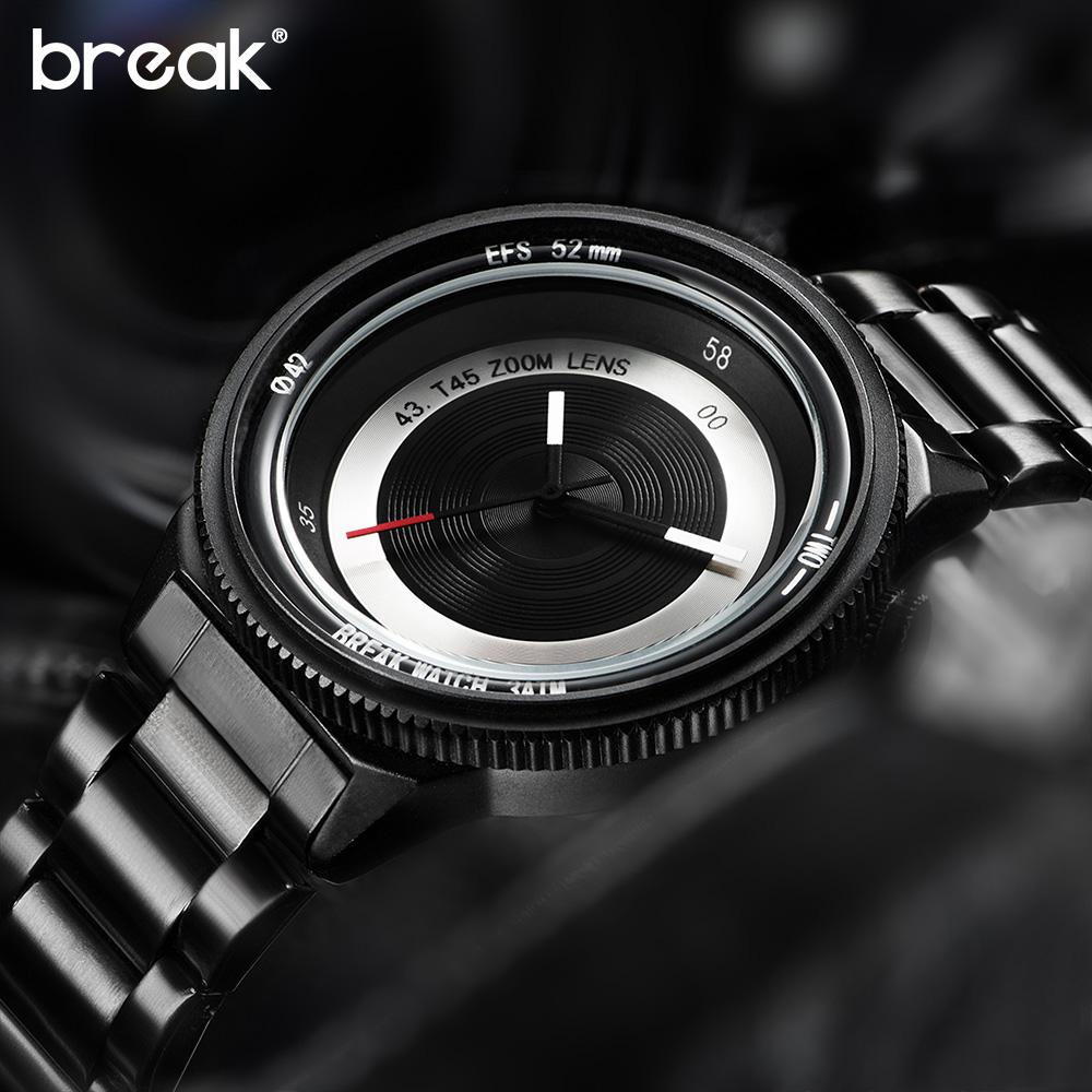 Prix pour Break Original Nouvelle Unique De Luxe Hommes Unisexe Mode Casual Sport Cool Quartz Caméra Photographe T45 Creative Montres pour femmes