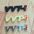 VVTI Logo Metal Emblem Badge Chrome 3D Letter stickers For Toyota camry corolla Prado Reiz RAV4 HighLander Avensis car styling