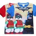 Camisetas de los niños Para El Muchacho Del Verano de Manga Corta Lego Batman Película Ropa Baby Boy Camisetas Ropa Adolescente Monya