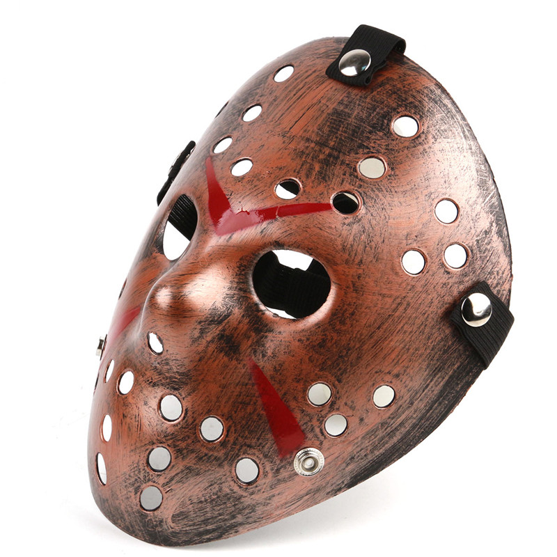 Jason vs Friday The 13th Horror Hockey Cosplay Kostum Halloween Pembunuh Masquerade Bola Masker Scary Lace Masker Anonymou ...