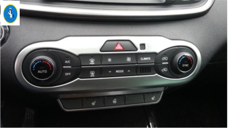 New Style For KIA Sorento L 2015 2016 2017 ABS Central Console Air Conditioning AC font
