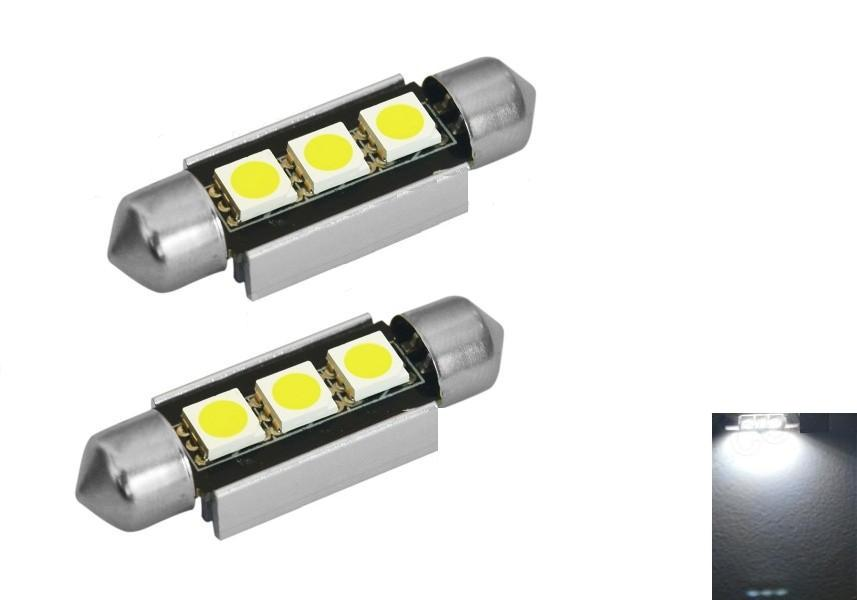 Festoon 39mm LED 6000K 200lm White 3 SMD 5050 LED Light   Bulb  car styling Free Canbus Lamp(12V, 2PCS)-in Signal Lamp from Automobiles & Motorcycles