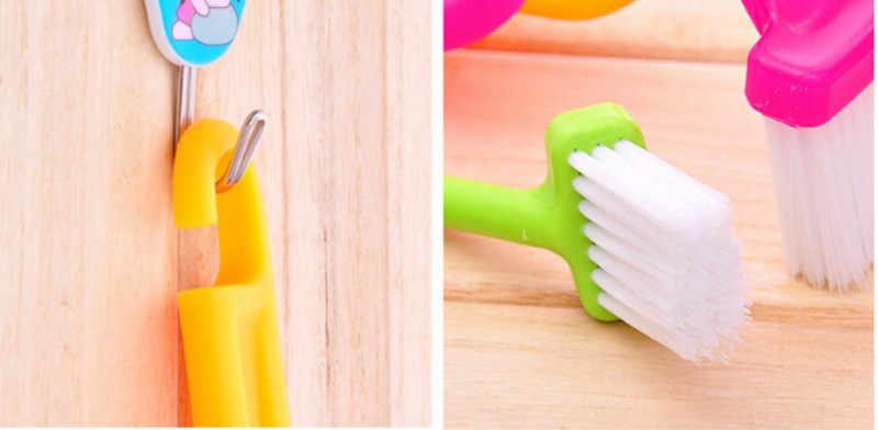 ZTOYL S-סוג בייבי רחצה אסלה סניטרי סט אמבט צעצועים לילדים מעוקל מכופף ידית ניקוי Scrubber מברשת