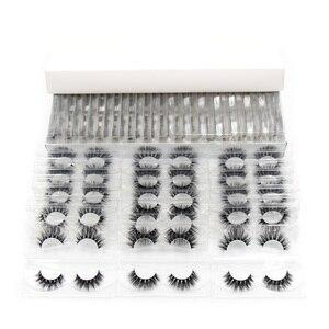Image 4 - 30 Pairs/Pack Eyelashes 3D Mink Lashes With Tray No Box Hand Made Full Strip Lashes Mink False Eyelashes Makeup eyelashes Fluffy