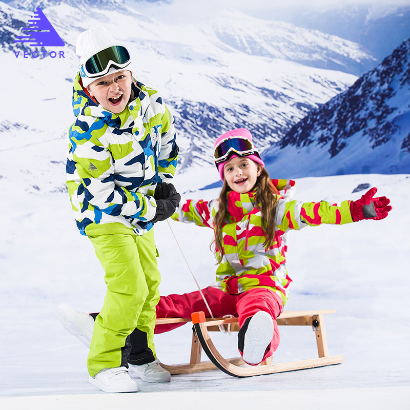 Kids Skiing suit 2018 Winter Ski Jacket And Pants Set Thermal Waterproof Windproof Boys Snow Skiing Set Girls Snowboarding Suits рюкзак туристический женский thule capstone цвет темно синий 22 л размер xs s