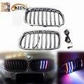Para BMW F30/F31/F35 320i 328i 335i 3 Seires Novo 1 Conjunto Prata Chrome LED M-cor Frente Grelhas Grill 2012-2014 Vermelho Azul Branco LEVOU