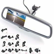 """4.3"""" TFT LCD rear view mirror car monitor video input 2Ch with a special mounting bracket"""