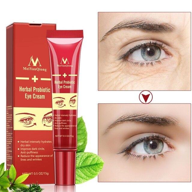 De probióticos ojo crema Anti-envejecimiento mejorar círculo oscuro intensamente hidratan la piel seca reducir cara líneas Anti-hinchazón wrinke