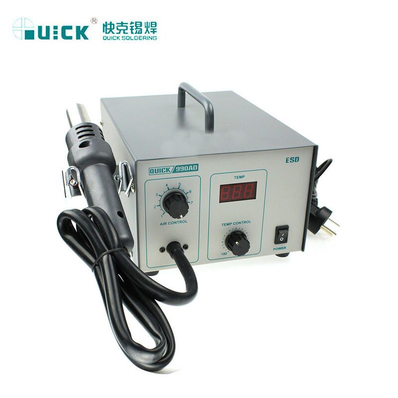 QUICK 990AD ELECTRONIC Digital SMD Hot Air Gun Rework Soldering Station,540W 100-480C degree hot