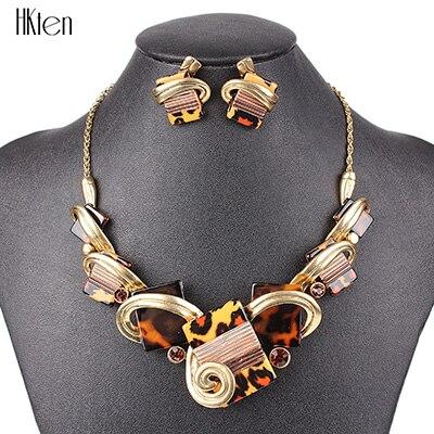 MS20676 модные ювелирные наборы, посеребренные фиолетовые/леопардовые/синие/серые цвета, уникальный дизайн, вечерние подарки, высокое качество - Окраска металла: Leopard