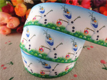 New arrival 1'' (25mm) 10 yards printed grosgrain ribbons easter ribbon diy hair accessories 15030233(China)