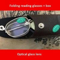 98402dcab Folding Reading Glasses 10 Pcs Glass Lenses WITH BOX Foldable Presbyopia 1  00 1 50 2
