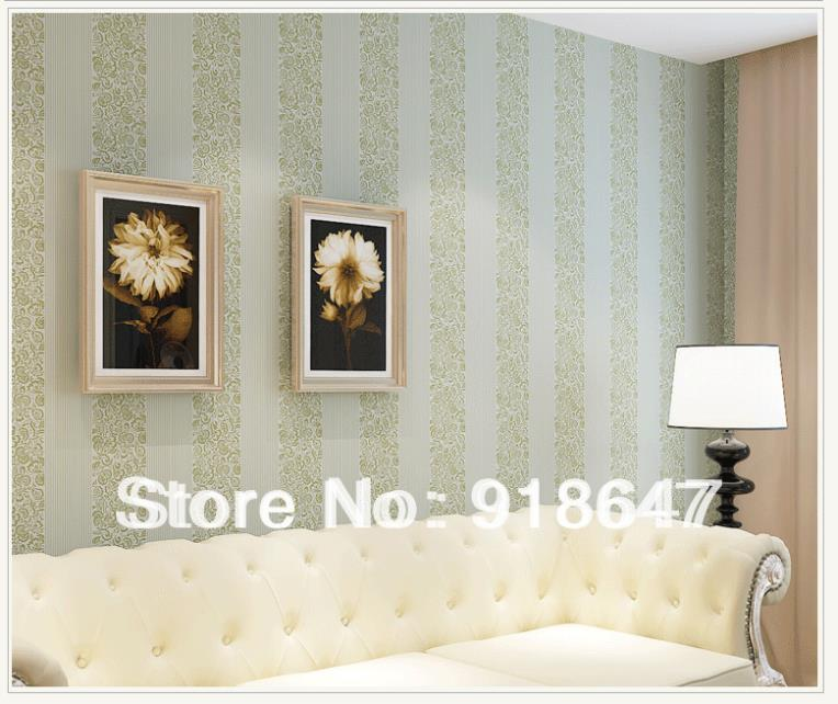 High quality plain stripe flower wood fabric modern for Living room paper ideas