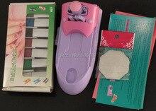 Nail Art Drawing Polish Stamper Printer Machine Kit Nail Stamping kit With 7Bottles Nail Polish