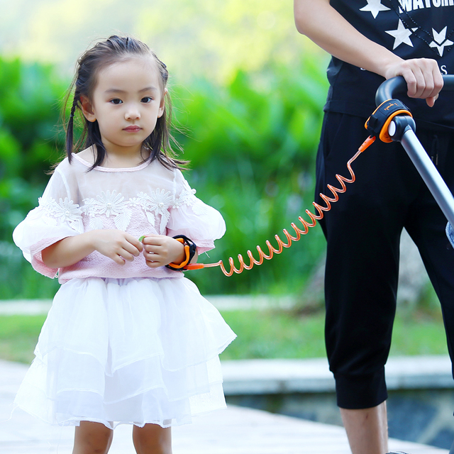 1.5m 2.5m Adjustable Kids Safety Anti-lost Wrist Link Band Children Braclet Wristband Baby Toddler Harness Leash Strap 1